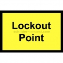 Warnschilder: Lockout Point - Sperrpunkt
